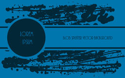 Μπλε χρώμα Splatter Στοκ φωτογραφία με δικαίωμα ελεύθερης χρήσης
