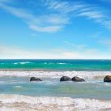 μπλε ωκεάνιος ουρανός Στοκ Εικόνα