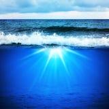 μπλε ωκεάνιος ουρανός Στοκ εικόνα με δικαίωμα ελεύθερης χρήσης