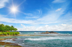 μπλε ωκεάνιος ουρανός Στοκ Εικόνες