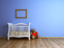 Μπλε δωμάτιο μωρών στοκ εικόνα με δικαίωμα ελεύθερης χρήσης