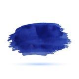 Μπλε λωρίδα watercolor διανυσματική απεικόνιση