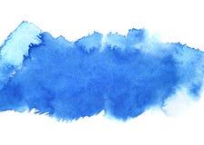 Μπλε λωρίδα watercolour ελεύθερη απεικόνιση δικαιώματος