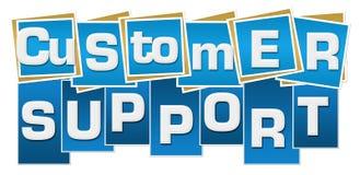 Μπλε λωρίδες τετραγώνων υποστήριξης πελατών Στοκ Εικόνες