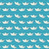 Μπλε λωρίδων πολυ σχέδιο σκαφών εγγράφου άνοιξη εκλεκτής ποιότητας Στοκ Φωτογραφίες