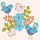 μπλε δύο πουλιών απεικόνιση αποθεμάτων