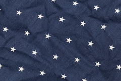 Μπλε ύφασμα με τα άσπρα αστέρια Στοκ εικόνα με δικαίωμα ελεύθερης χρήσης