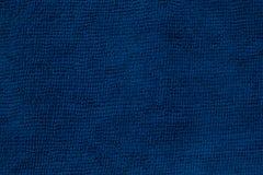 Μπλε ύφασμα microfiber και μπλε σύσταση microfiber της πετσέτας microfiber για το σχέδιο με το διάστημα αντιγράφων για το κείμενο Στοκ Εικόνες