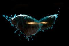 μπλε ύδωρ παφλασμών στοκ φωτογραφίες