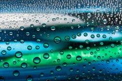 μπλε ύδωρ φυσαλίδων λουτρών ανασκόπησης Στοκ εικόνες με δικαίωμα ελεύθερης χρήσης