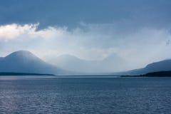 Μπλε ώρα σε Moldefjord Στοκ Εικόνες