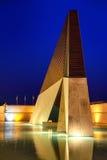 Μπλε ώρα στο μνημείο για τους πεσμένους πορτογαλικούς στρατιώτες σε Bele Στοκ Εικόνες