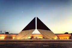 Μπλε ώρα στο μνημείο για τους πεσμένους πορτογαλικούς στρατιώτες σε Bele Στοκ Εικόνα