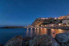 Μπλε ώρα - Pizzo Calabro Στοκ εικόνες με δικαίωμα ελεύθερης χρήσης