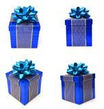 μπλε δώρο κιβωτίων Στοκ Φωτογραφίες