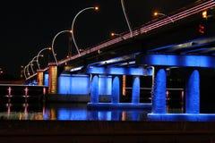 Μπλε birdge Στοκ Εικόνες