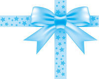 Μπλε bowknot Στοκ Εικόνα