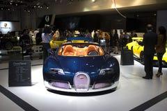 Μπλε Bugatti Στοκ εικόνες με δικαίωμα ελεύθερης χρήσης
