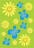 Μπλε buterflies Στοκ Φωτογραφίες