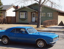 Μπλε Camaro Στοκ εικόνα με δικαίωμα ελεύθερης χρήσης