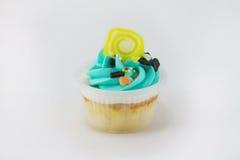 μπλε cupcake Στοκ Φωτογραφία