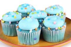 Μπλε Cupcakes στοκ φωτογραφίες με δικαίωμα ελεύθερης χρήσης