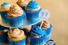 μπλε cupcakes Στοκ Φωτογραφία