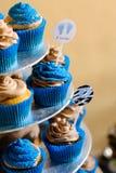 μπλε cupcakes Στοκ εικόνα με δικαίωμα ελεύθερης χρήσης