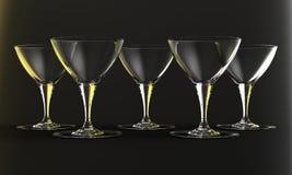 μπλε dof ρηχό κρασί γυαλιών Στοκ εικόνα με δικαίωμα ελεύθερης χρήσης