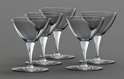 μπλε dof ρηχό κρασί γυαλιών Στοκ Εικόνα