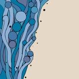Μπλε doodling υπόβαθρο Στοκ Εικόνες