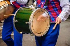 Μπλε drumer Στοκ Φωτογραφίες