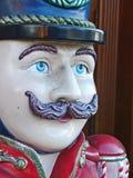 Μπλε Eyed ξύλινος στρατιώτης με το mustache Στοκ Εικόνα