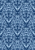 Μπλε floral άνευ ραφής σχέδιο που επαναλαμβάνει το υπόβαθρο Στοκ Εικόνες