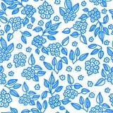 μπλε floral πρότυπο άνευ ραφής ελεύθερη απεικόνιση δικαιώματος