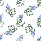 μπλε floral πρότυπο άνευ ραφής διανυσματική απεικόνιση
