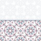 μπλε floral χαιρετισμός σχεδίου καρτών Στοκ Εικόνα