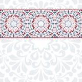 μπλε floral χαιρετισμός σχεδίου καρτών Στοκ Εικόνες