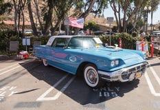 Μπλε 1963 Ford Thunderbird Στοκ φωτογραφία με δικαίωμα ελεύθερης χρήσης