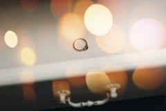 μπλε garter λουλουδιών λεπτομερειών γάμος δαντελλών κοστούμι δαχτυλιδιών ατόμων δέσμευσης Στοκ εικόνες με δικαίωμα ελεύθερης χρήσης