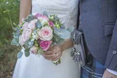 μπλε garter λουλουδιών λεπτομερειών γάμος δαντελλών Στοκ φωτογραφίες με δικαίωμα ελεύθερης χρήσης