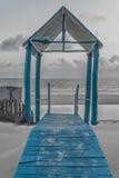 Μπλε Gazebo Στοκ φωτογραφίες με δικαίωμα ελεύθερης χρήσης