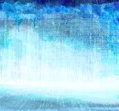 Μπλε Grunge που γρατσουνίζει το εσωτερικό, καλλιτεχνικό υπόβαθρο Στοκ εικόνες με δικαίωμα ελεύθερης χρήσης