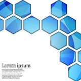 Μπλε hexagon ελεύθερη απεικόνιση δικαιώματος