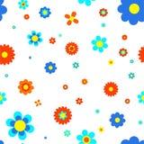 Μπλε jointless σχέδιο λουλουδιών Στοκ φωτογραφίες με δικαίωμα ελεύθερης χρήσης
