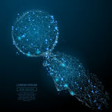 Μπλε Magnifier σε διαθεσιμότητα απεικόνιση αποθεμάτων