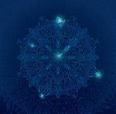 μπλε mandala Στοκ Φωτογραφίες