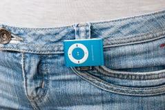 μπλε mp3 φορέας Στοκ Φωτογραφία