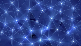 Μπλε polygonal υπόβαθρο πυράκτωσης Στοκ εικόνα με δικαίωμα ελεύθερης χρήσης