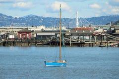 μπλε sailboat Στοκ Εικόνα